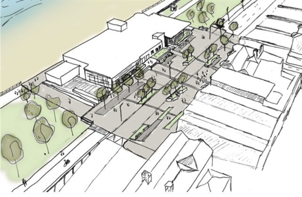Design for the seafront pavilion