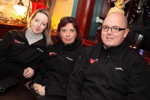 Megan Pender, Rachael Pender and Philip O'Dwyer from the Order of Malta