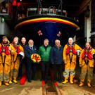 Rev Ken Rue and Father Pat O'Rourke with Wicklow lifeboat crew at the Annual Service of Remembrance