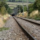 Commuter route: the railway entering the tunnel at Bray Head