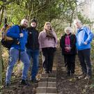 County Wicklow Partnership rural recreation officer Bryan Fennell, Mountain Meitheal chairman Robert Brandon,Helen McDonald, Madge Kenny andHugh Coogan at the new section of the Wicklow Way between Tinahely and Crossbridge