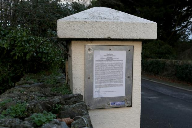 The planning application by the entrance to Tinakilly House