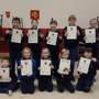 The 4th Wicklow Sea Scout Beavers with their Chief Scout Awards.