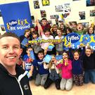 Fitness expert Tom Dalton with pupils at Nun's Cross NS who joined the Fit Squad