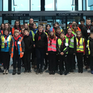 Members of 7th Wicklow Scouts (Wicklow town) heading off on a behind the scenes tour of Shannon Airport on Sunday