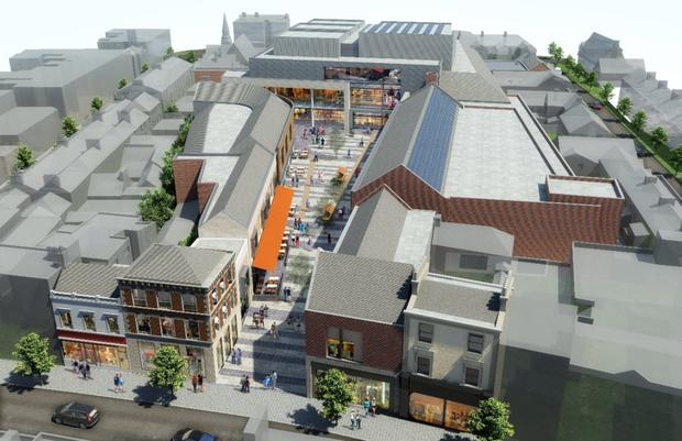 An updated artist's impression of Bray Town Centre (formerly known as the Florentine Centre)