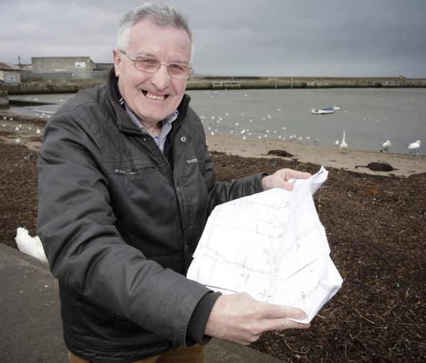 Historian Brian White on the seafront in Bray