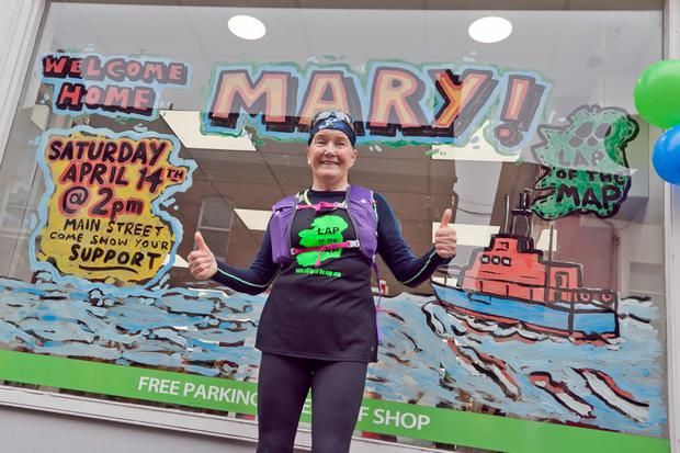 Mary Nolan Hickey is hoping to set off on April 14 – exactly a year after she received a hero's welcome in Arklow after she finished the original Lap of the Map in aid of the RNLI.