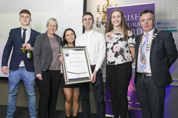 Representatives from Wicklow town's Lily's on Church Street with their award for Best Newcomer