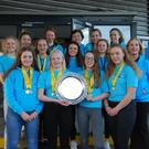 Members of Wicklow Surfing Lifesaving Club celebrate their success at the National Still Water Lifesaving Championships.