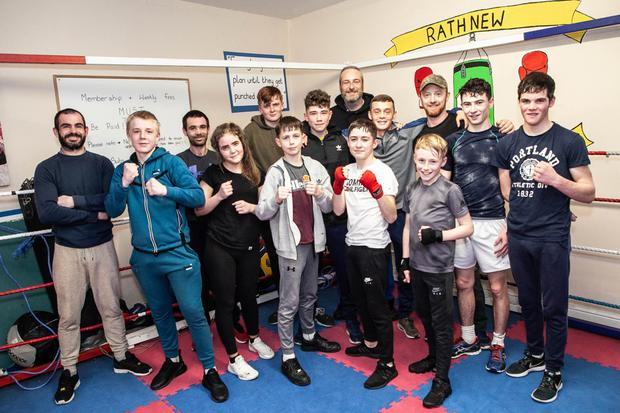 Members of Rathnew Boxing Club