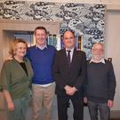 Caroline Higgins, Justin Doyle, Colin Byford and Will Doyle of Wicklow Toastmasters