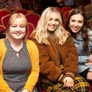 Liz D'Arcy, Aoife D'Arcy and Isabella Lawlor at 'Breezeblock Park' by Model Box Productions