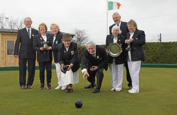Membrs of Greystones Lawn Bowling Club, which has won the county sports award