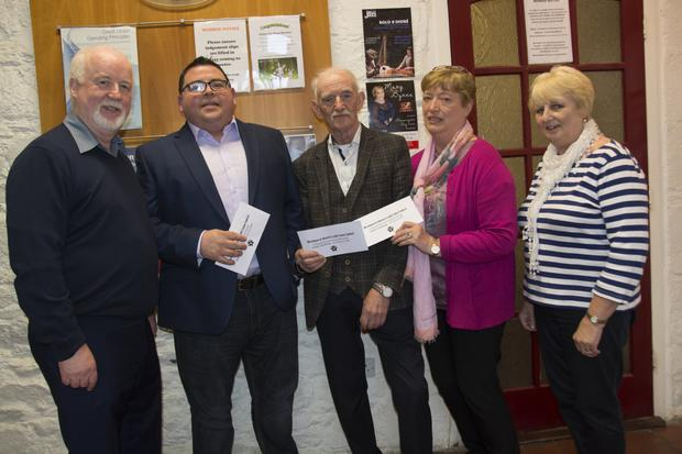 Michael Doyle, Chairperson; Ivan Smyth, car draw winner; Liam McCarthy €1,000 winner; Kathleen Keogh €200 winner and Annette Flynn at the Blessington and District Credit Union Car Draw