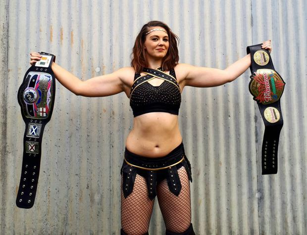 Wrestler Katey Harvey from Kilmacanogue