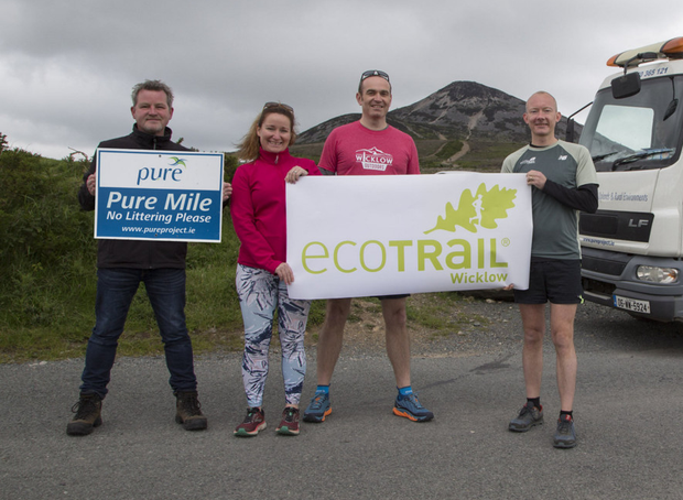 Ian Davis of the PURE Mile Project with Fred Verdier of Wicklow Tourism, Clara Jenkinson and Rene Borg of EcoTrail Wicklow