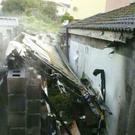 A shed was destroyed in a fire in Arklow on Saturday