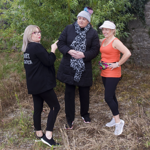 The cast of Lisa McKenna (Diet Leader), Nicola Levear (Breda Lynch) and Valerie Byrne who played Pam McGowan