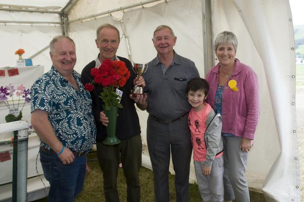 Colm Moules, Reggie Mitchel (who won the Mary Moules Cup for best Rose in the Show), John Moules, Caeric Doyle and Nuala Beaty