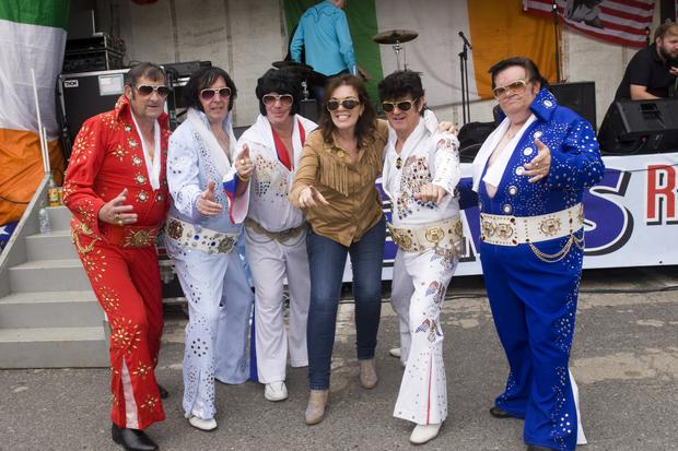 Ken Freeman, Myles Kavanagh, John O'Brien, Bernie Heaney, Anthony Farrell and Tony Reilly at the Elvis Roots Festival in Hacketstown