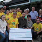 The Tinahely Darkness into Light committee presenting the proceeds of their walk – €12,304 – to Pieta House