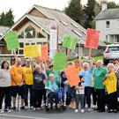 Protesters outside Ashford Community and Heritage Centre last Thursday evening