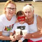 Celine Jordan with her son Eoin and his grandmother Anne Hennessy.