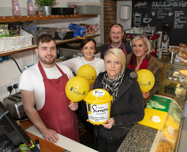 Staff at Halpin's Bridge Cafe will take part in a sleep-out for The Simon Community
