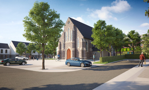 An artist's impression of part of the planned development in Delgany