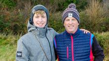 Niall and Jamie Cunnane who took part in the event