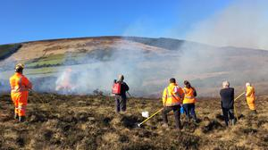 Controlled burning at Granamore with the Suas Project