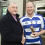Tom Hennessy presents Lee Brennan with the Man of the Match Award