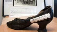 A woman's shoe picked up at sea during the rescue of survivors of the Lusitania