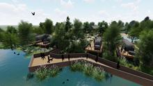 The proposals include a river walkway and lodges