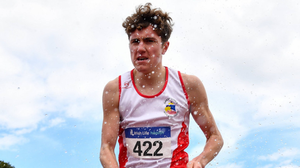 Greystones & District AC's Joe Dowd in action in 2020. Photo by Sam Barnes / Sportsfile