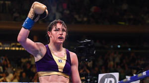 Katie Taylor salutes the crowd