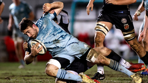 Bray's Jack Conan is tackled by Sam Davies of Dragons during the Guinness PRO14 match between Dragons and Leinster at Rodney Parade. Photo by Gareth Everett / Sportsfile