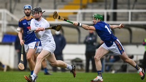 Wicklow's Christy Moorehouse chases Kildare's Rian Boran during the Christy Ring Cup game in Newbridge in 2020. Photo by Sam Barnes / Sportsfile