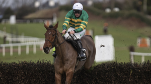 The Francis Flood-trained It's Only A Number wins at Down Royal on Thursday (4th) under jockey Simon Torrens. Photo: Patrick McCann / Racing Post