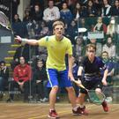 Bray's Denis Gilevskiy (yellow) in action in the British Open final