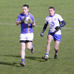 Paddy Byrne wins this ball at the first attempt