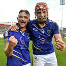 Wicklow's Padraig Doran, left, and Padraig Doyle, celebrate after victory over Meath in the All-Ireland under-21 B final of 2015