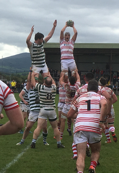 Nenagh win their line-out against Greystones