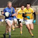 Wicklow's Mark Kenny gets away from Antrim's Niall Delargy