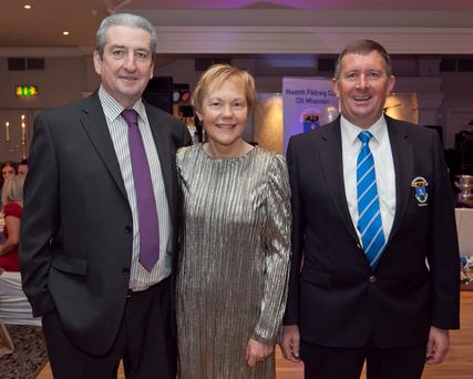 Damien and Marie O'Brien with St Pat's GAA Club Chairman John Gill.