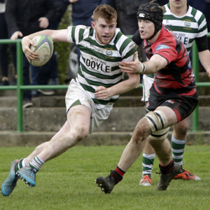 Paudie Geoghegan makes one of the last breaks of the game at Dr Hickey Park