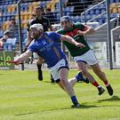 Wicklow's Andy O'Brien gets away from Mayo's Conor Daly