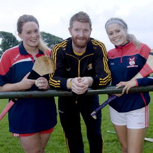 Fiona Hobson and Andrea Byrne with Richie Power