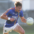 Wicklow's Eoghan Byrne drives towards the Dublin goal in the Leinster MFC clash in Parnell Park last Wednesday. Wicklow played Meath yesterday (Tuesday) where a win would put them through to the Leinster semi-final against Kildare this Saturday